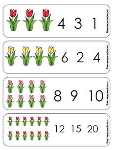 Summer Bulletin Boards For Daycare Discover Printable Counting Activity for Preschoolers: Spring Tulips Count & Clip Cards - The Measured Mom Print this spring math activity for preschool! Help your child practice counting objects from Counting Activities For Preschoolers, Spring Activities, Preschool Activities, Numbers Preschool, Preschool Kindergarten, Preschool Worksheets, Spring School, Math For Kids, Plantation