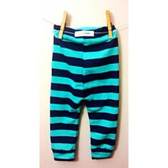 baby leggings mint and navy stripes toddler by thelittlebunnystore, $14.00