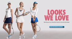 Getting back into tennis, and I think the outfit on the left would help my game!