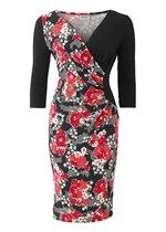 Stella Winter Floral Print Dress in Red