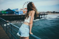 - go to the Santa Monica Pier☆ Pinterest Photography, Beach Photography, Portrait Photography, Santa Monica Pier, Brighton, Oui Oui, Summer Photos, Beach Pictures, Brandy Melville Photoshoot