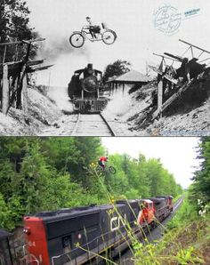 Bikes And Trains – Then And Now