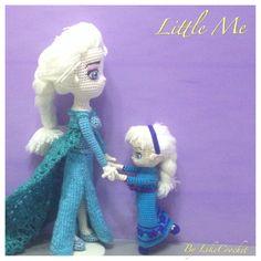 Little Snowqueen Elsa of Frozen Disney amigurumi crochet doll