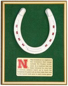 Framed Nebraska Huskers Horseshoe