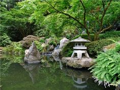 If you have the space, a bigger water feature is an option. A stream, pond or waterfall is a common feature in Asian gardens. Remember, Japanese garden design is all about mimicking nature, so create meandering natural shapes for streams or ponds. Adding koi or goldfish to a pond is an option. Koi ponds feature aquatic plants and ornamental fish.