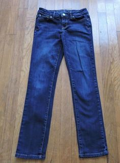Aeropostale Lot Of 2 Skinny Woman Dark Blue Jeans Size 00 Short #Aropostale #SlimSkinny