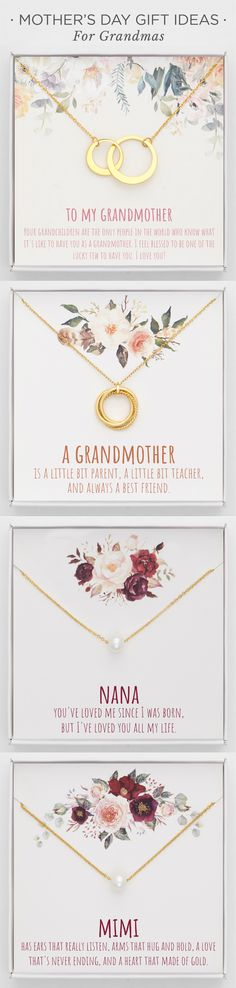 Mother's Day Gifts - Necklace For Grandma Mothers Day Gifts From Daughter, Mother Day Gifts, Grandma Gifts, Gifts For Mom, Jewellery Sketches, Jewelry Sketch, Handmade Jewelry Designs, Simple Gifts, Simple Jewelry