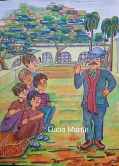 """Ilustración de Lucía Martín para el cuento """" La banda del Cerepe """" de J.Nieto."""