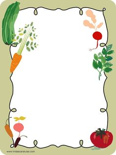 Frame Border Design, Page Borders Design, Borders For Paper, Borders And Frames, Food Border, Fruit Doodle, Homemade Recipe Books, Scrapbook Recipe Book, Book And Frame