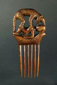 African comb, Baule peoples, Ivory Coast