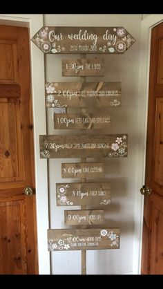 The Old Potting Shed - Wedding decor and personalised gifts - Are you having a Festival themed wedding? This order of the day is perfect for you - Wedding Order Of Events, Order Of The Day Wedding, Order Of Wedding Ceremony, Wedding Ceremony Seating, Wedding Signage, Order Of Wedding Reception, Wedding Venues, Shed Wedding, Pallet Wedding