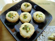 Ghari is an extremely rich and delicious sweet from Surat ,Gujarat . Ghari is a sweet made with a covering of puri which is made . Mini Dessert Recipes, Indian Dessert Recipes, Indian Sweets, Mini Desserts, Sweets Recipes, Cooking Recipes, Diwali Recipes, Diwali Food, International Recipes