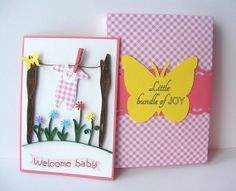 Welcome Baby Girl Quilling Card by RollingIdeas on Etsy, $8.00
