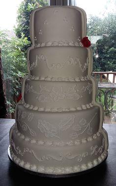 Half & Half Wedding Cake - Front  View Wedding Favours, Wedding Reception, Wedding Cakes, Chocolate Stout, Fondant Icing, Artisan Bread, Marzipan, Confectionery, Celebration Cakes