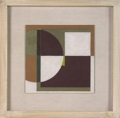 Part Circle Painting (Garnet) by George Dannatt
