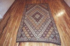 "Kilim & Flatweave 12' 0"" x 6' 4"" Vintage Kilim at Persian Gallery New York - Antique Decorative Carpets & Period Tapestries"