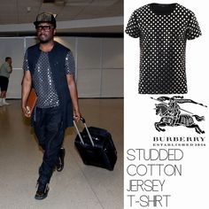 Male Fashion Trends: Will.I.Am y su Studded Cotton Jersey T-Shirt de Burberry