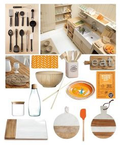 """Kitchen"" by taci42 ❤ liked on Polyvore featuring interior, interiors, interior design, home, home decor, interior decorating, Urban Outfitters, CO, Europe2You and Pfaltzgraff"
