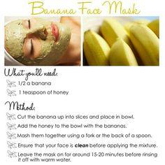 bannana face mask.