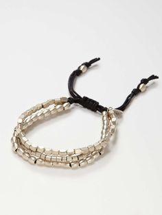 Nickel Bead Triple Strand Bracelet