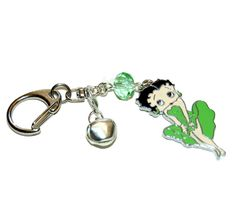 New item (Betty Boop in green with green crystal. Key ring - Bag charm.) is available at Rob's Emporium - http://robsemporium.com/product/betty-boop-in-green-with-green-crystal-key-ring-bag-charm-2/
