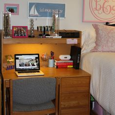 Keep your desk organized! Get Preppy College Dorm Room Ideas like this on Uscoop.com!