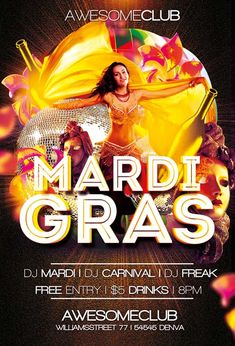 Free Mardi Gras Carnival Festival Psd Flyer Template  Http
