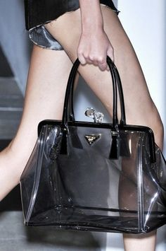 20 Looks with Clear Bags glamhere.com Clear perspex handbag