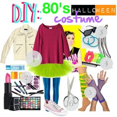 """DIY: 80's outfit"" by meganissixfeetunderthestars on Polyvore.. Homecoming outfit!"