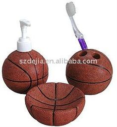 3pcs Polyresin Basketball Bathroom