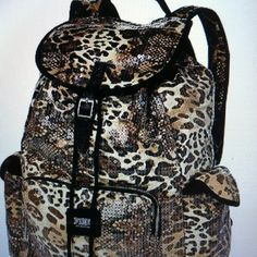 Leopard backpack from Victoria's Secret!