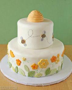 Bee Cakes Baby Cupcake Shower Cake Birthday Torta Happy Sheet