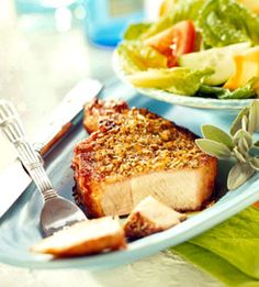 Lemon and Herb Rubbed Pork chops
