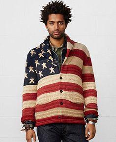 Denim & Supply Ralph Lauren Flag Shawl-Collar Cardigan - Sweaters - Men - Macy's