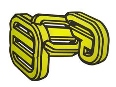 "Title : "" yellow chain"" Acrilic on cut paper  pasted on carboard. 70 x 50 cm Signed: Alfonso Cintado 2010. 450 $"