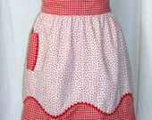Vintage Apron, Red Check Gingham