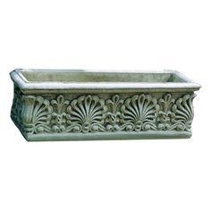 Features:  -Material: Cast stone.  -Patina or finish hand applied by trained artisans.  -Designed to weather naturally and last a lifetime.  -Made in the USA.  Material: -Stone.  Shape: -Rectangular.