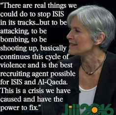 Yes wise Jill! Violence begets violence, let's end the cycle!