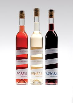 Rubin Borház by Kira Koroknai, via Behance for all our #wine loving #packaging peeps PD