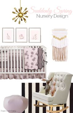 Balboa Baby Bedding Inspired Nursery Design. #suddenlyspring #balboababy