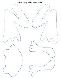 Znalezione Obrazy Dla Zapytania żaba Szablon Do Wycięcia Z Filcu
