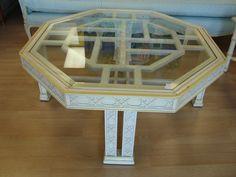 Fretwork table Hollywood Regency