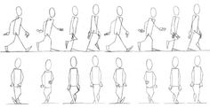 references, walk cycles, and gaits for different body types