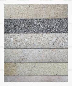 Concrete texture pack - set of 6
