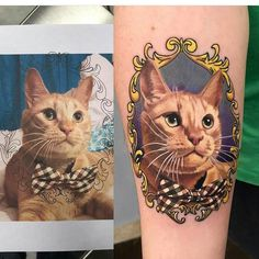 Cat portrait from @drewshurtleff . Checkout our website http://ift.tt/1N6aOXn . #tattooed #ink #inked #savepaperinkme #savepaperinkmetattoo #cat #catsofinstagram #cats