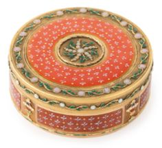 Gold & Enamel circular Box, Swiss or German, ca, 1785 - Collections: Silver, Vertu, Ceramics, and Russian Works of Art   Sotheby's