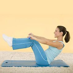 Easy ab exercise routine: BELLY BLASTER, Broomstick lifts