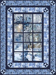 Best 12 Alpine Retreat Scenic Window quilt pattern by Little Louise Designs. This quilt is great for a confident beginner or a seasoned quilter alike. Fabrics used in the cover photo are from Scenic Snow Fall by Timeless Treasures. The pattern includes e Fabric Panel Quilts, Fabric Panels, Throw Quilt Size, Attic Window Quilts, Quilt Border, Landscape Quilts, Quilts For Sale, Patchwork Quilting, Scraps Quilt