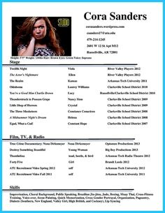 nice actor resume template to boost your career check more at http - Theatrical Resume Template