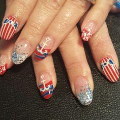 Light Elegance/hard gel nails Nail artist/handpainted  Instagram: styleandgracesalon  Facebook: Gel Nails By Nichole